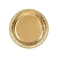 Pappteller gold 6 Stück