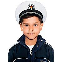 Polizeihut für Kinder weiß