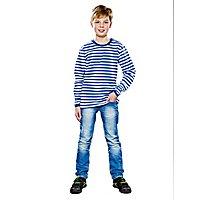 Ringelshirt für Kinder langarm blau-weiß