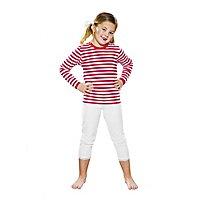 Ringelshirt für Kinder langarm rot-weiß