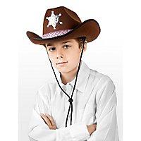 Sheriffhut braun für Kinder