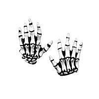 Skeletthände für Kinder weiß aus Latex