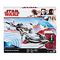 Star Wars 8 - Forcelink Ski Speeder mit Poe Dameron Figur