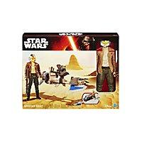 Star Wars - Figuren-Set Poe Dameron mit Speeder