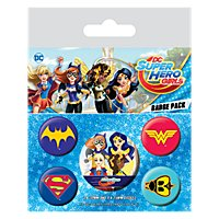 Super Hero Girls - Ansteck-Buttons Logos