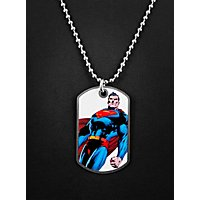 Superman stehend Dog Tag