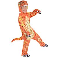 T-Rex orange Dinokostüm für Kinder