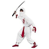 Weißer Ninja Kinderkostüm