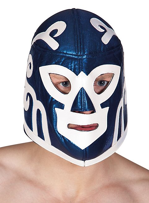 luchador maske mexikanischer wrestler blau wei. Black Bedroom Furniture Sets. Home Design Ideas