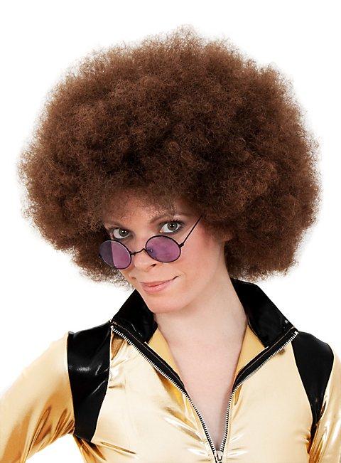 Afro Deluxe braun Perücke