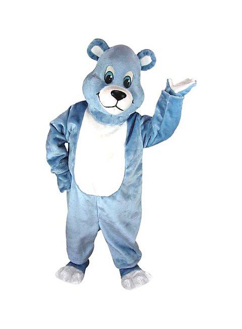 Blauer Bär Maskottchen