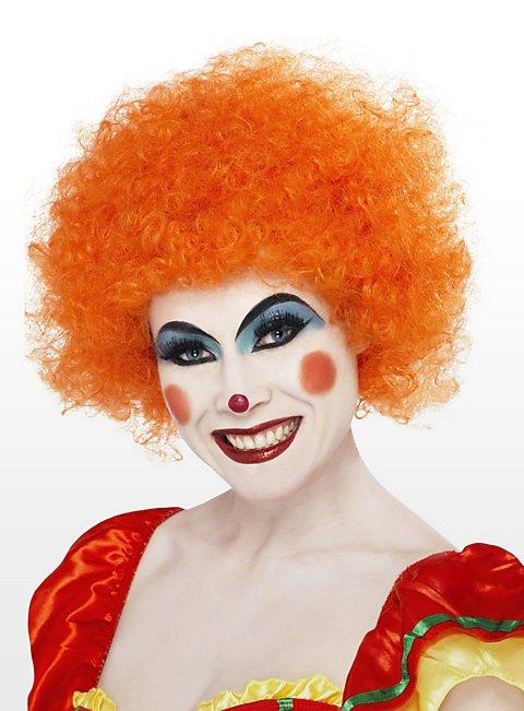 Clown orange Perücke