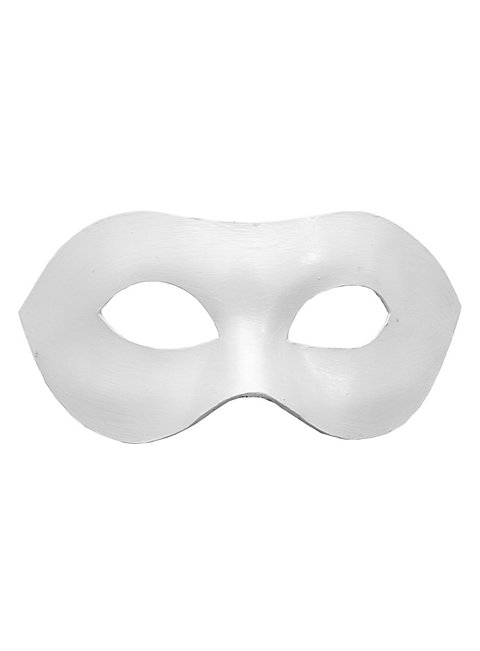 Colombina Liscia white Venetian Leather Mask