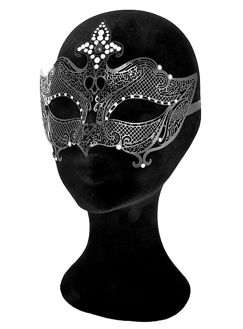 Colombina Regina de metallo nero Venetian Metal Mask