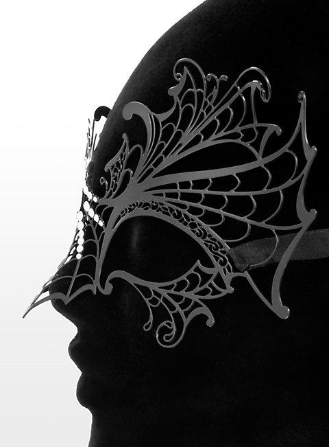 Colombina Vedova Nera de metallo Venetian Metal Mask