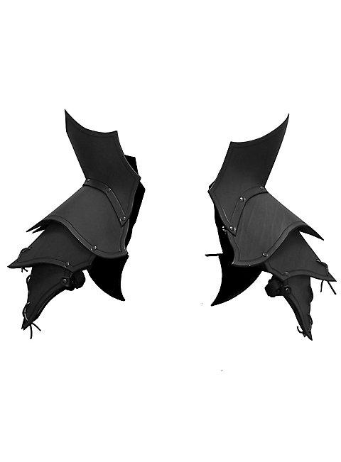 Demon Shoulder Guards black