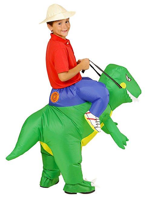 Dino-Reiter Aufblasbares Kinderkostüm