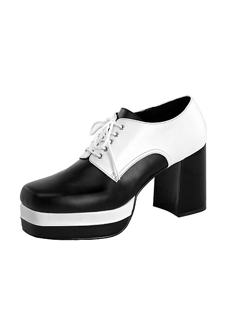 Discoschuhe schwarz-weiß