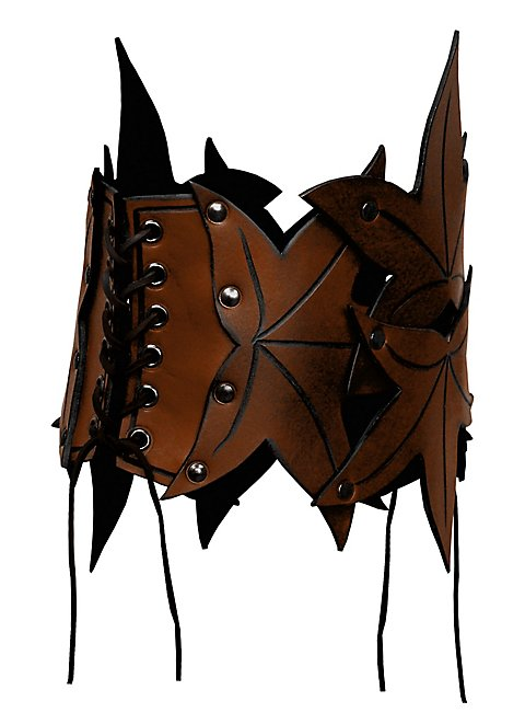 Elf Leather Bustier brown