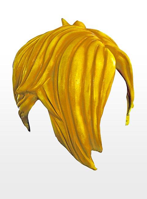 Emo gelb Latexperücke