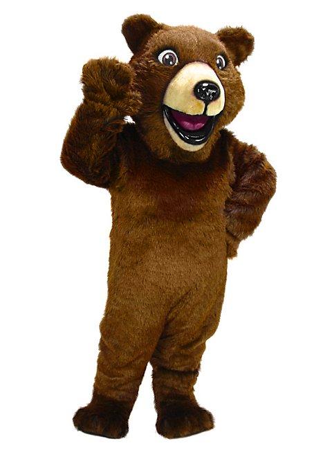 Fröhlicher Grizzly Maskottchen