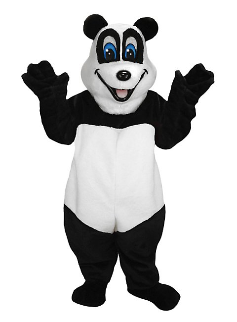 Fröhlicher Panda Maskottchen
