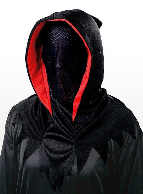 Geistermaske rot-schwarz