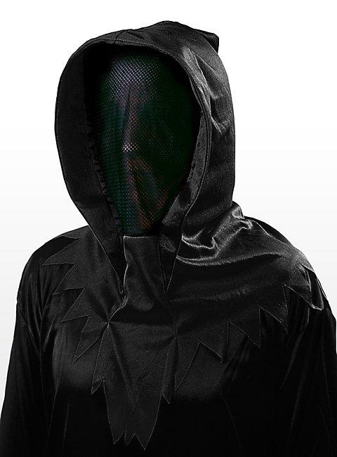 Geistermaske schwarz-schwarz