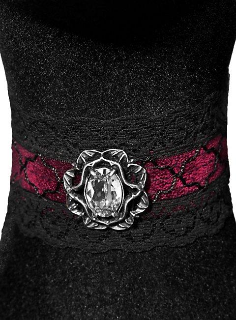 gothic halsband mit swarovski kristall. Black Bedroom Furniture Sets. Home Design Ideas