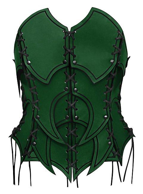 Healer Leather Corset green
