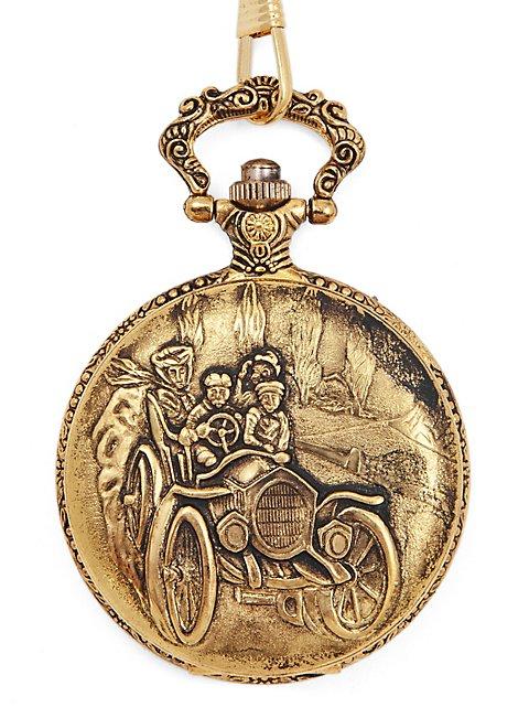Landpartie Taschenuhr gold