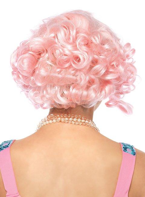 Lockiger Bob Perücke rosa