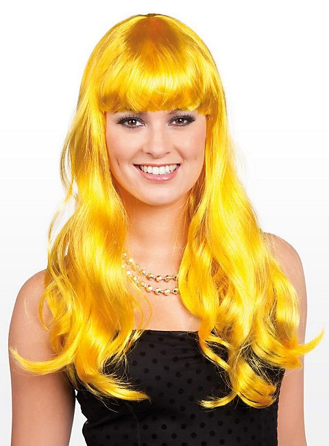Long Hair lemon Wig