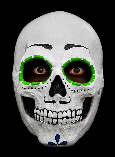 mexikanische calaca maske aus latex