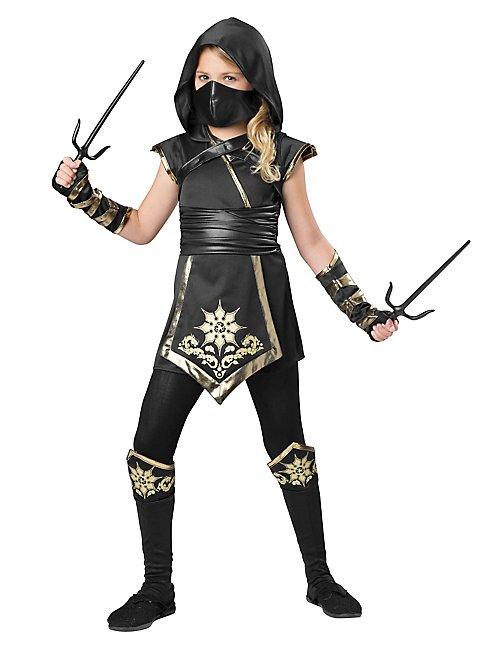 Ninjakämpferin Kinderkostüm