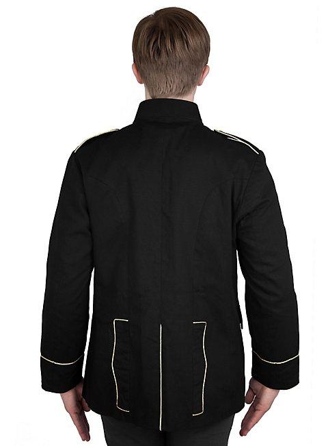 Offiziersjacke mit Degentasche schwarz