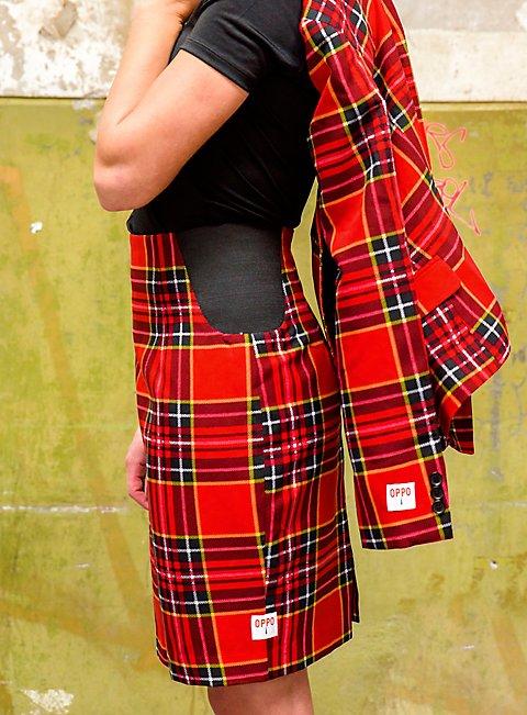 OppoSuits Lumberjackie Damen Anzug Kostüm mit Rock und Jacket