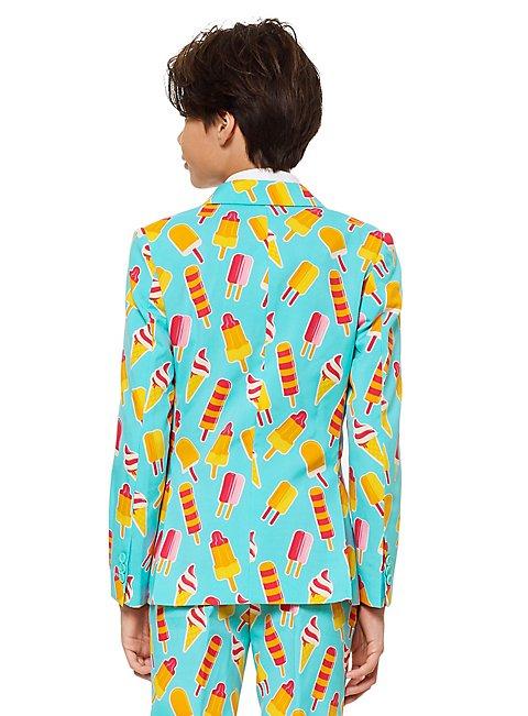 Sommer OppoSuits Iceman Anzug mit Krawatte Hose Jacket Slim Fit