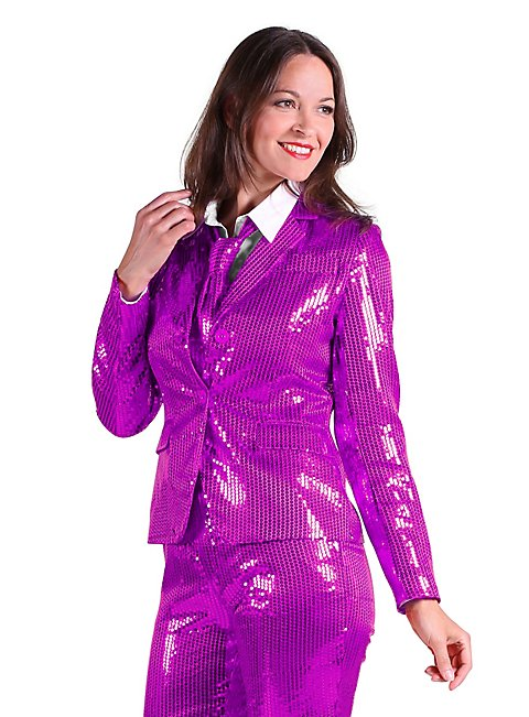 Pailletten Anzug für Damen lila