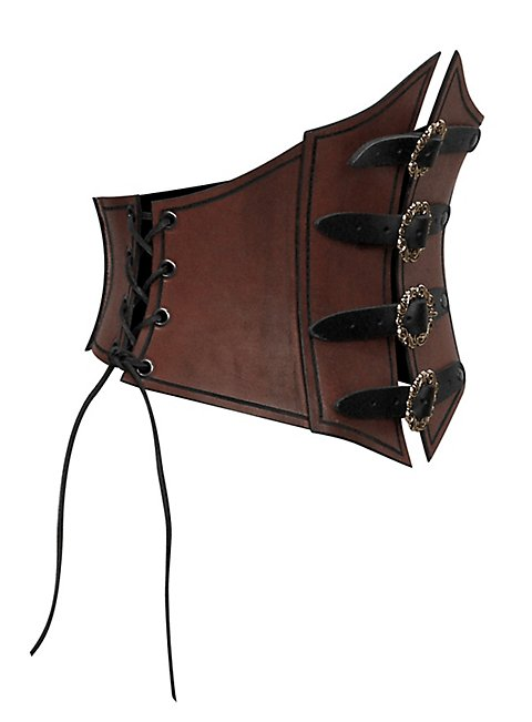 Pirate Queen Leather Corset black