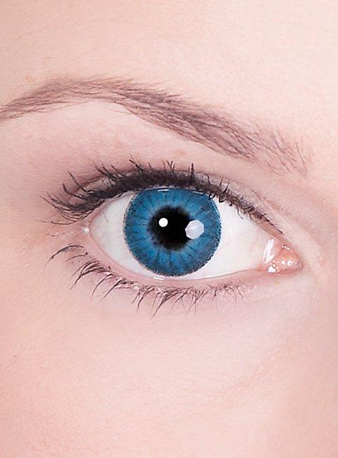 prescription contact lens blue iris