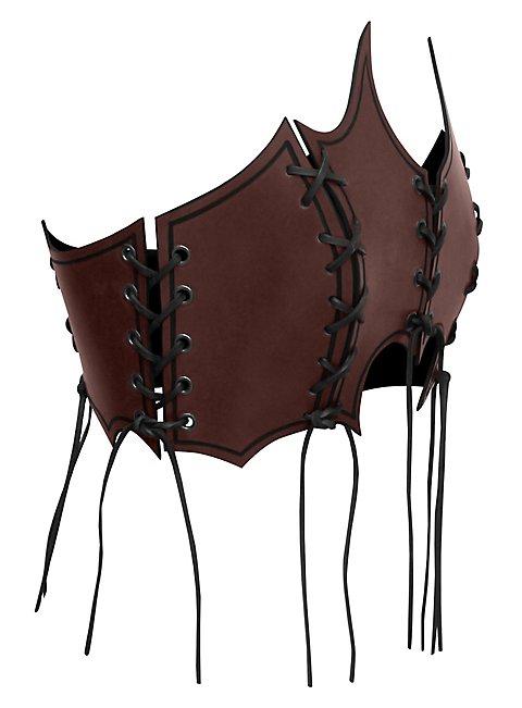 Priestess Leather Bustier dark brown
