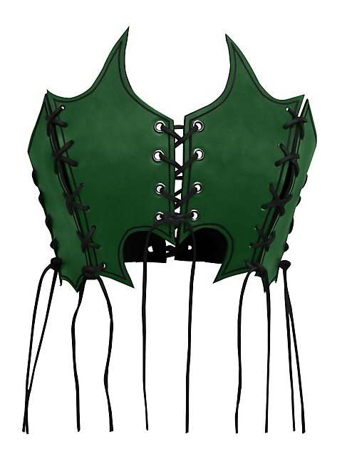 Priestess Leather Bustier green