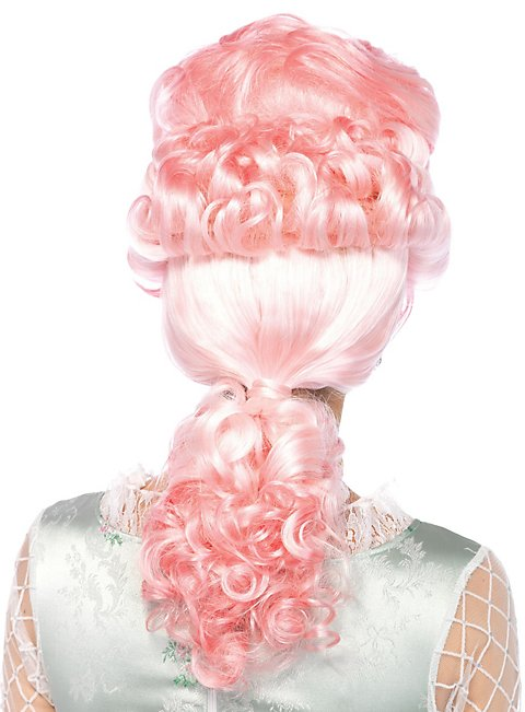 Rokoko Perücke rosa