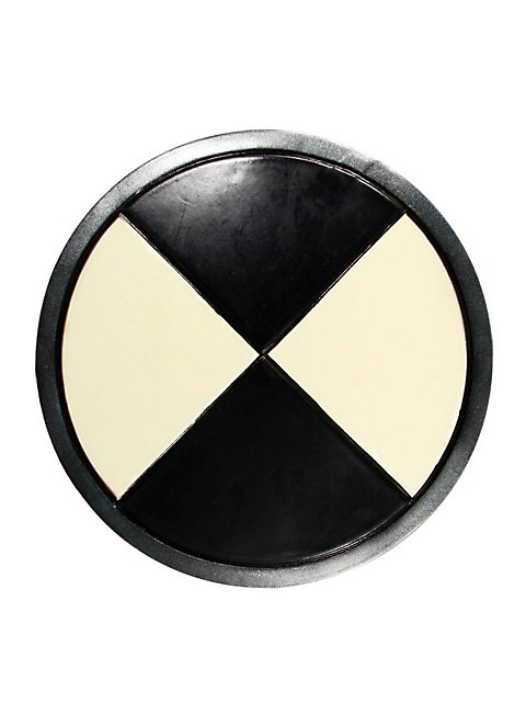Round Shield black-white Foam Weapon