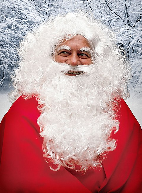 Santa Claus Full Beard with Wig and Eyebrows