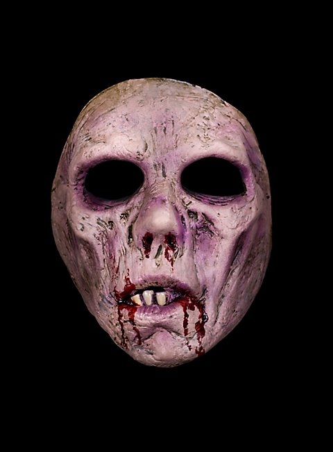 horror halbmaske seelenloser zombie maske. Black Bedroom Furniture Sets. Home Design Ideas