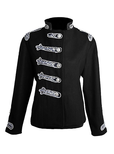 Sequined Ladies Uniform Jacket black