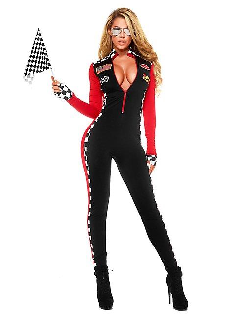 Sexy Formel 1 Pilotin Kostüm