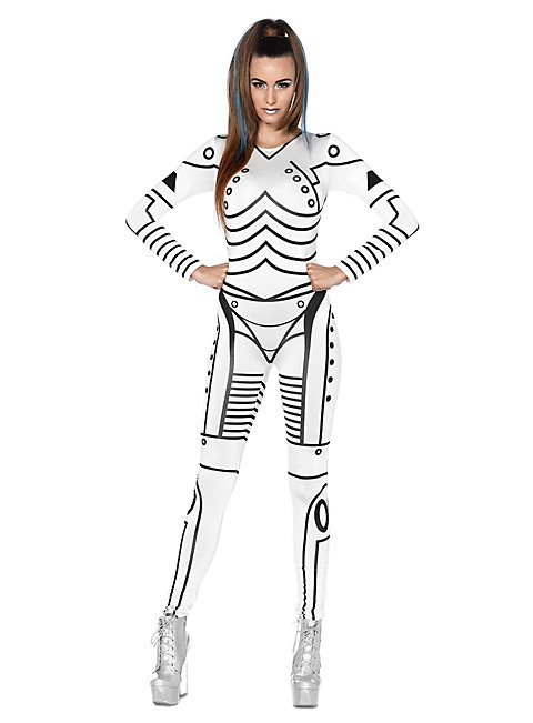 sexy roboter girl kost m roboter catsuit. Black Bedroom Furniture Sets. Home Design Ideas